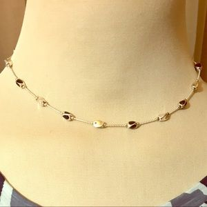 Jewelry - Silver metal beaded necklace